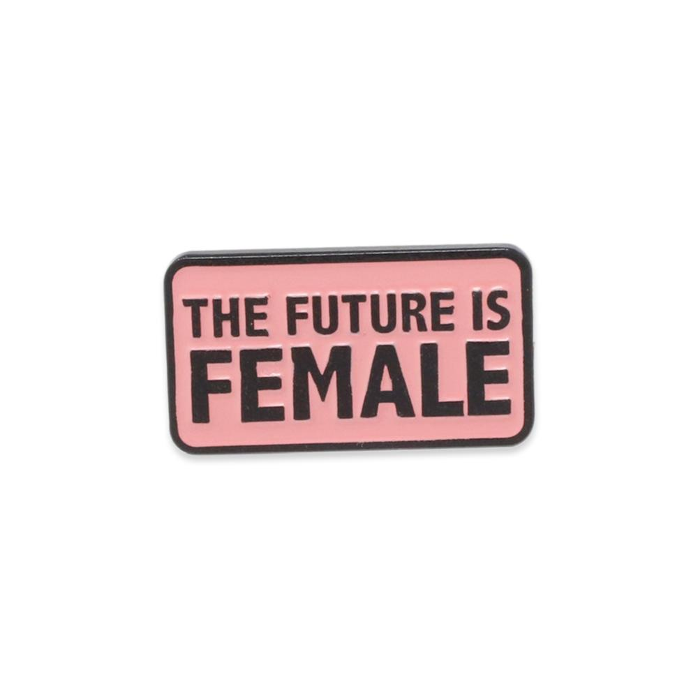 The Future is Female Bold Rectangle Feminist Rally Pin