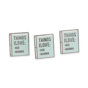 Drake-God's Plan Things I Love Note Enamel Pin