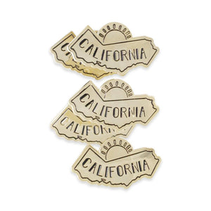 Sunny California Golden Coast Gold Rush Gold Enamel Pin