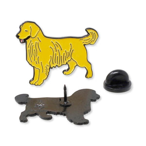 Golden Retriever Dog Puppy Enamel Pin