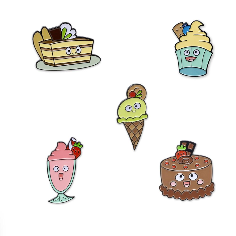Happy Dessert Enamel Pin Set