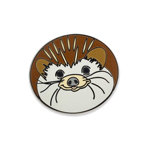 Cute Hedgehog Smiling Face Hard Enamel Lapel Pin