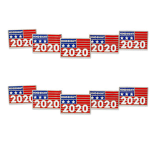 Hindsight 2020 Political Election Enamel Pin