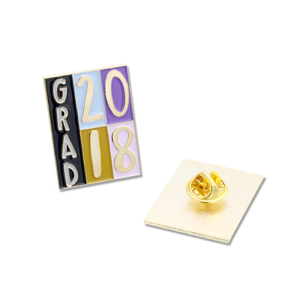 2018 GRAD Gold Enamel Lapel Pin