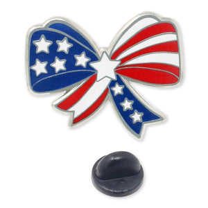American Flag Bow Enamel Lapel Pin