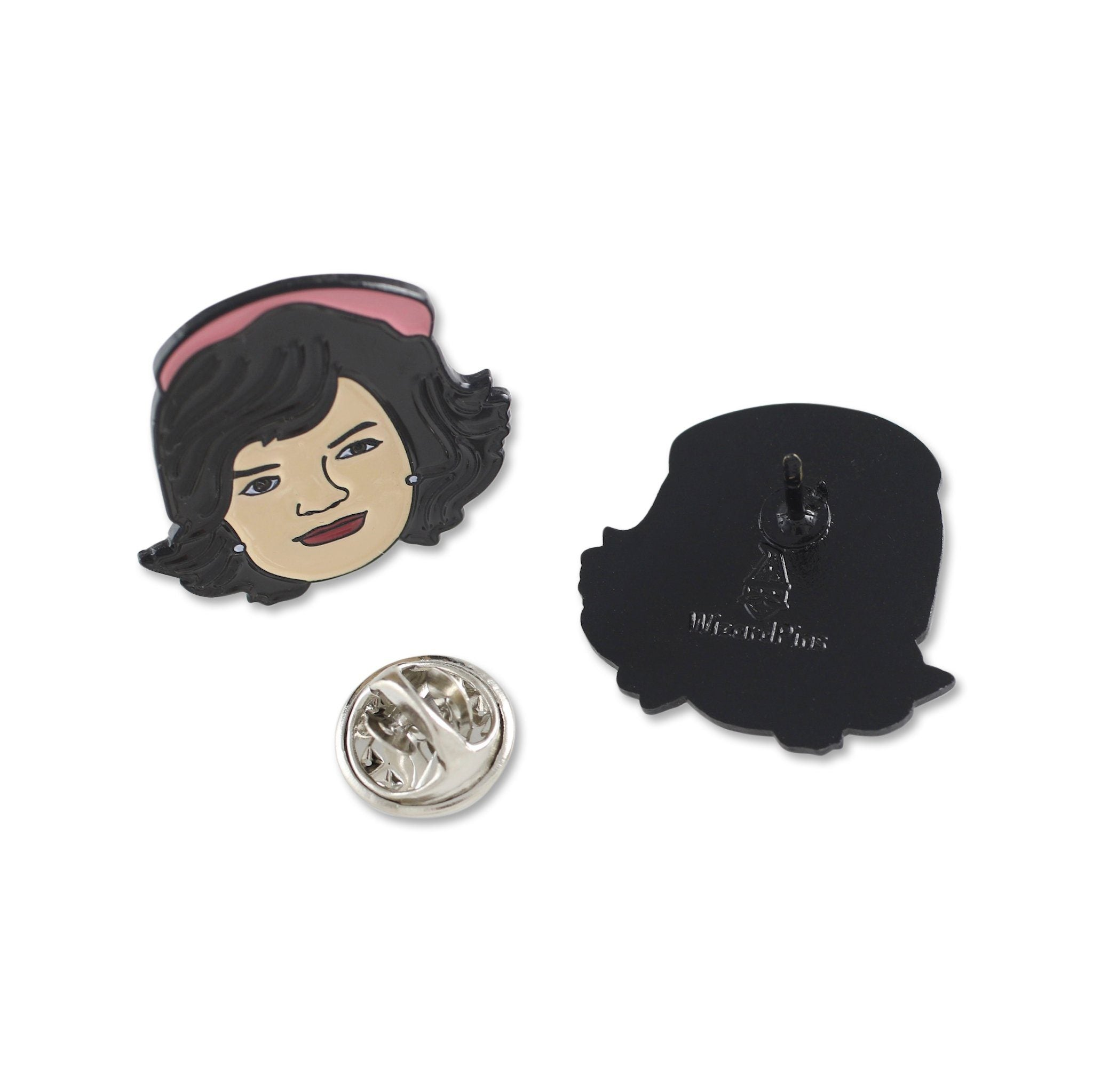 Jacqueline Jackie Kennedy First Lady of The United States Celebrity Face Enamel Pin