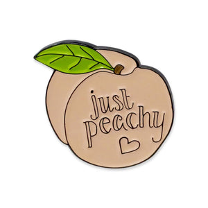 Just Peachy Peach Emoji Enamel Pin