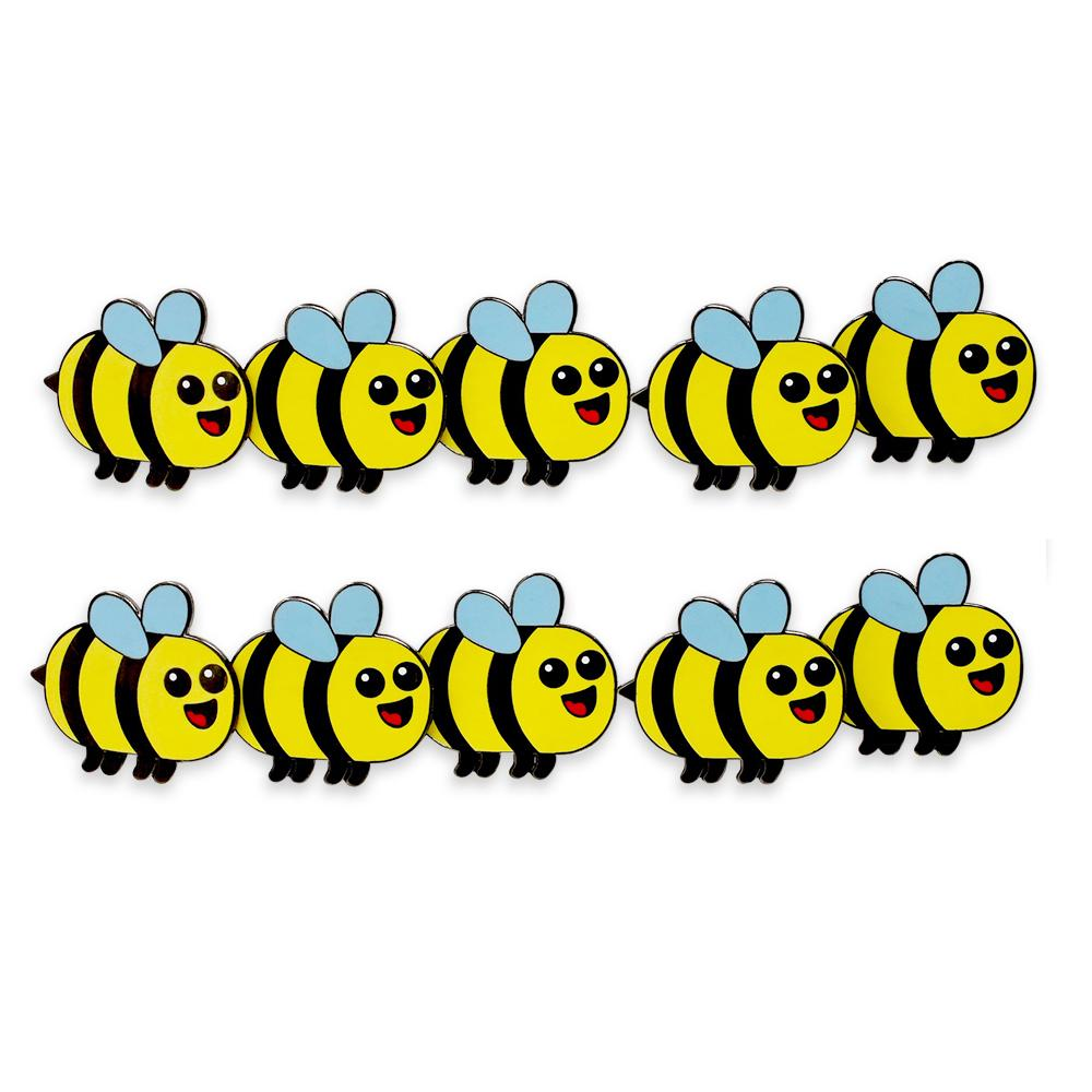 Kawaii Cute Bee Hard Enamel Lapel Pin