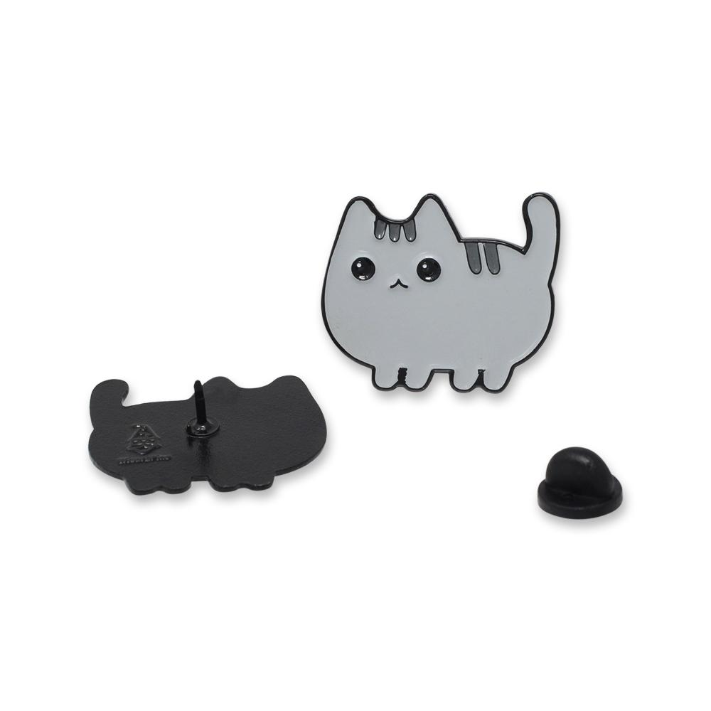 Kawaii Grey Cat Pin