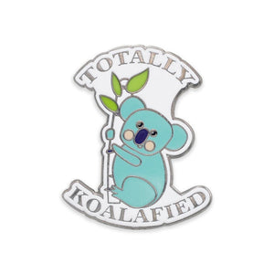 Koala Bear Hanging On Branch Hard Enamel Lapel Pin