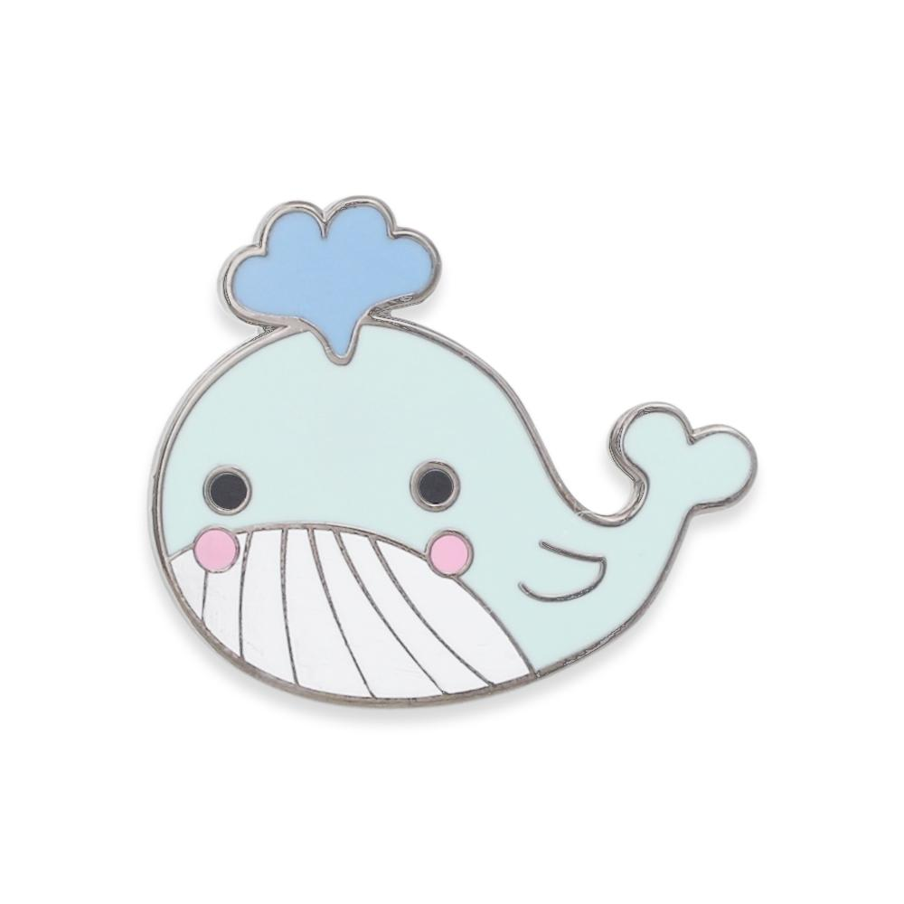 Kawaii Cute Whale Hard Enamel Lapel Pin