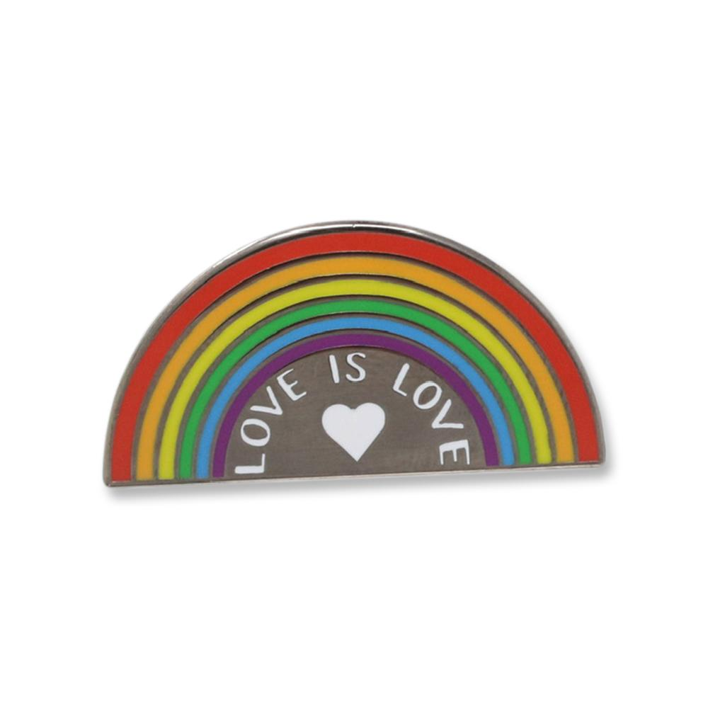Love is Love Rainbow Hard Enamel Lapel Pin