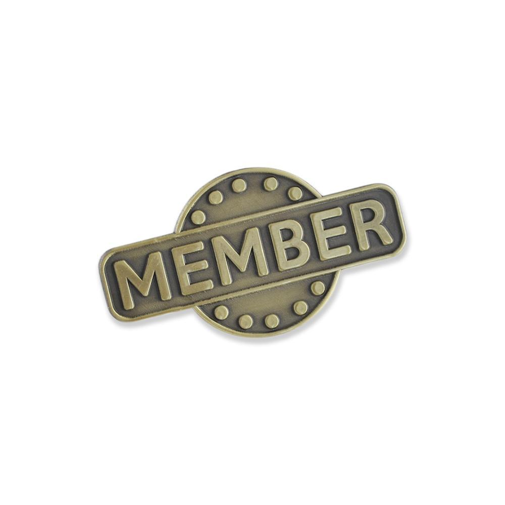 Member Recognition Circle Antique Gold Diestruck Lapel Pin