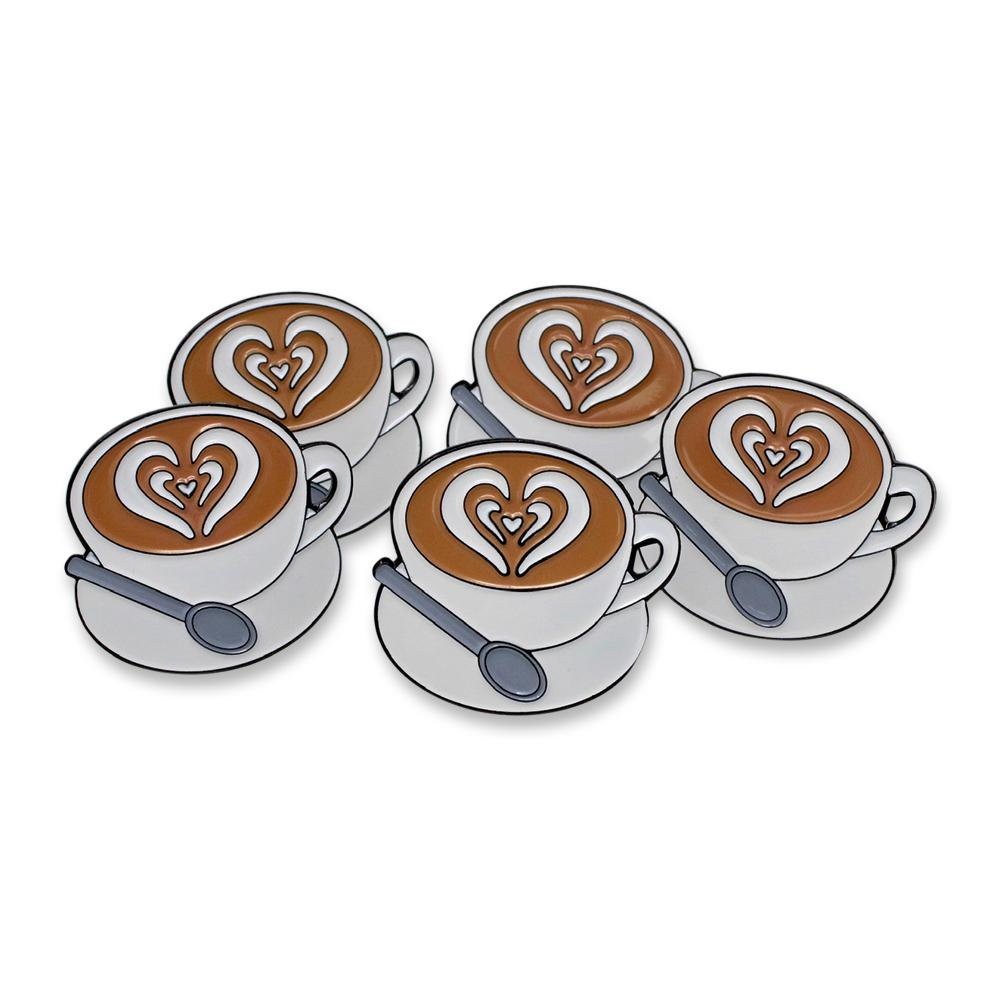 Morning Cup of Coffee Heart Enamel Pin