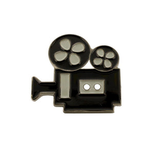 Movie Camera Enamel Diestruck Lapel Pin