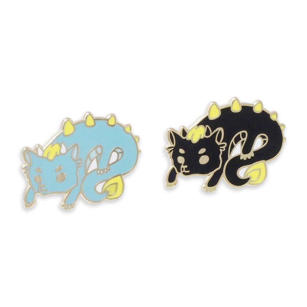 Mythical Dragon Cute Horned Enamel Pins