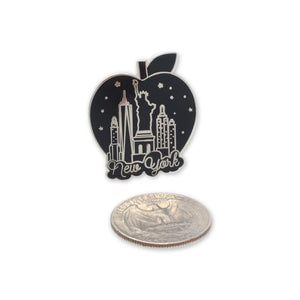 New York City Skyline Big Apple Enamel Pin