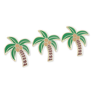 Palm Tree and Coconuts Hard Enamel Lapel Pin