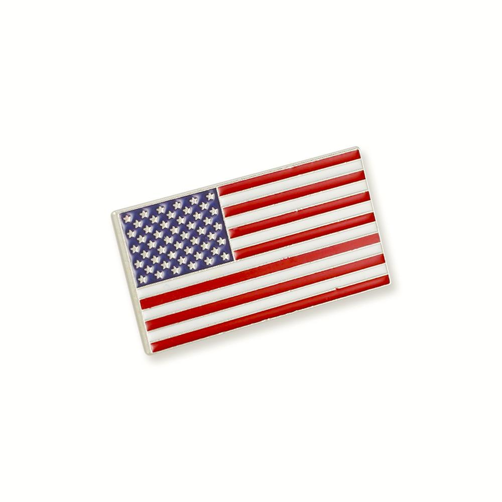 Official American Flag Proudly Made in USA Gold Lapel Pin