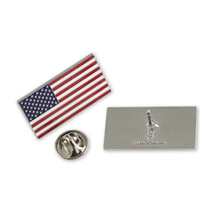 Official American Flag Proudly Made in USA Silver Lapel Pin