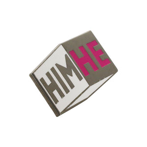 Personal Pronoun Pins (HE/HIM) Cube