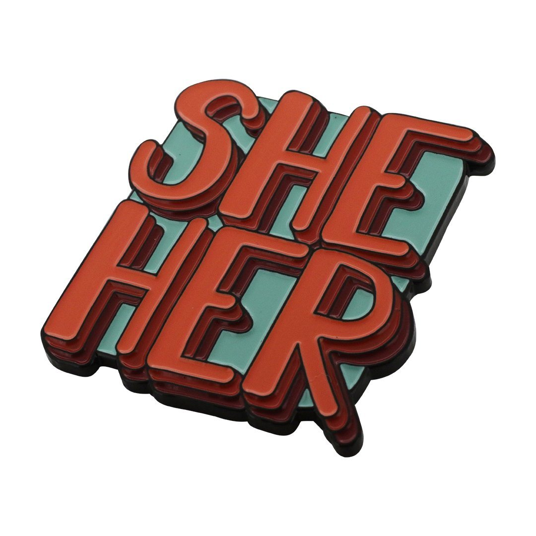 Personal Pronoun Pins (SHE/HER) Block