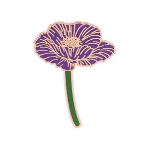 Poppy Bonsai Flower PIn