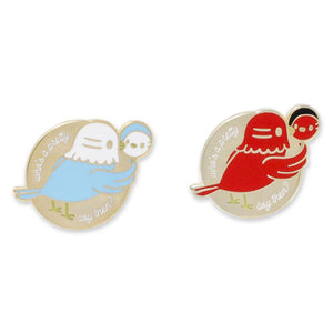 Who's A Pretty Boy Pigeon Selfie Enamel Pins