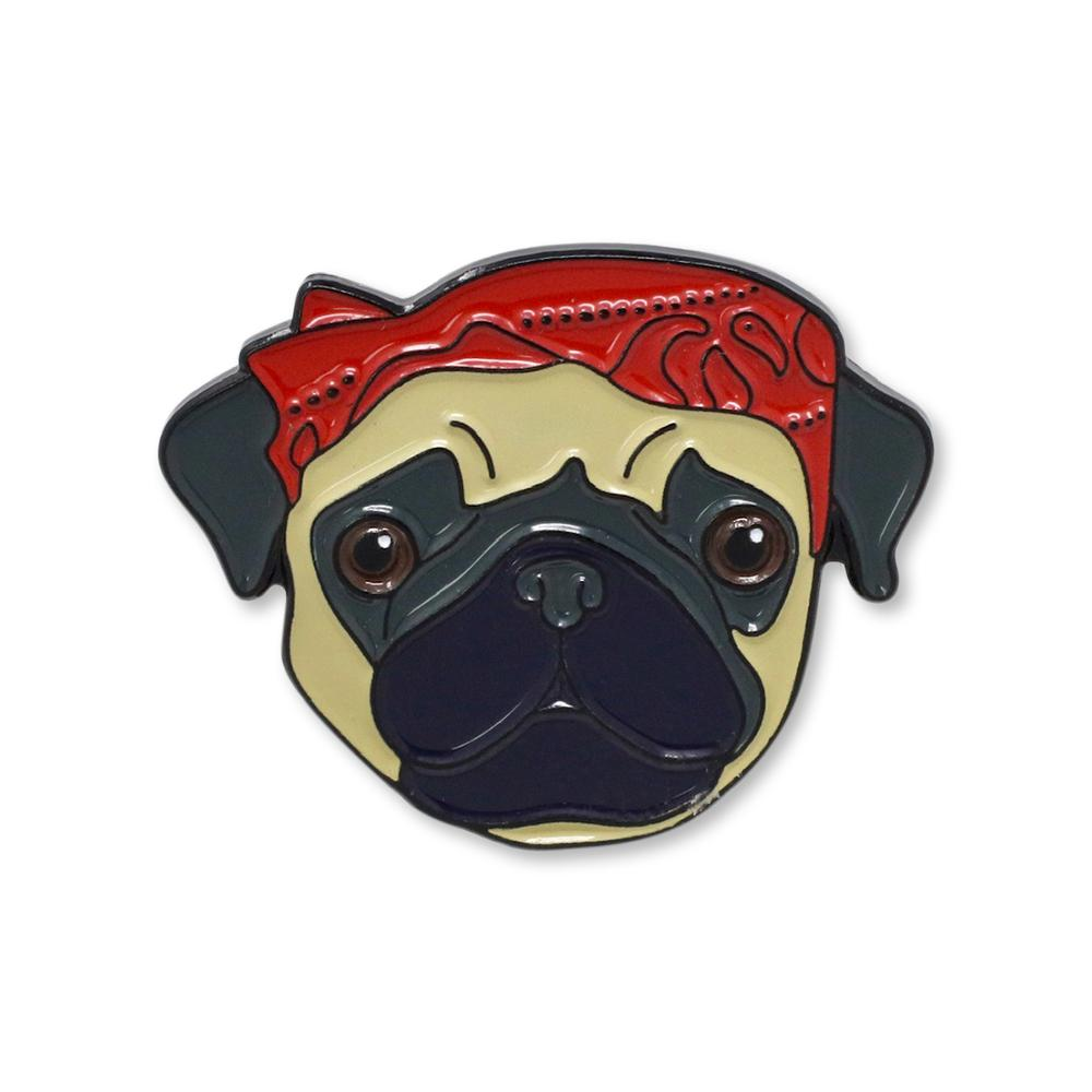Pug Life Enamel Pin Set