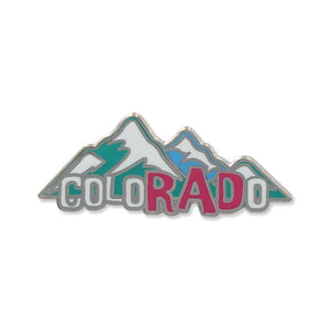 Rad Colorado Mountains Enamel Pin