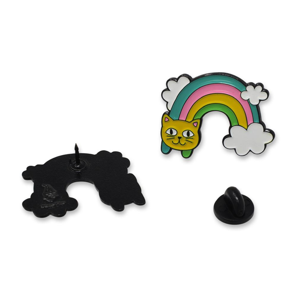 Cute Rainbow Cat Face Colorful Enamel Pin