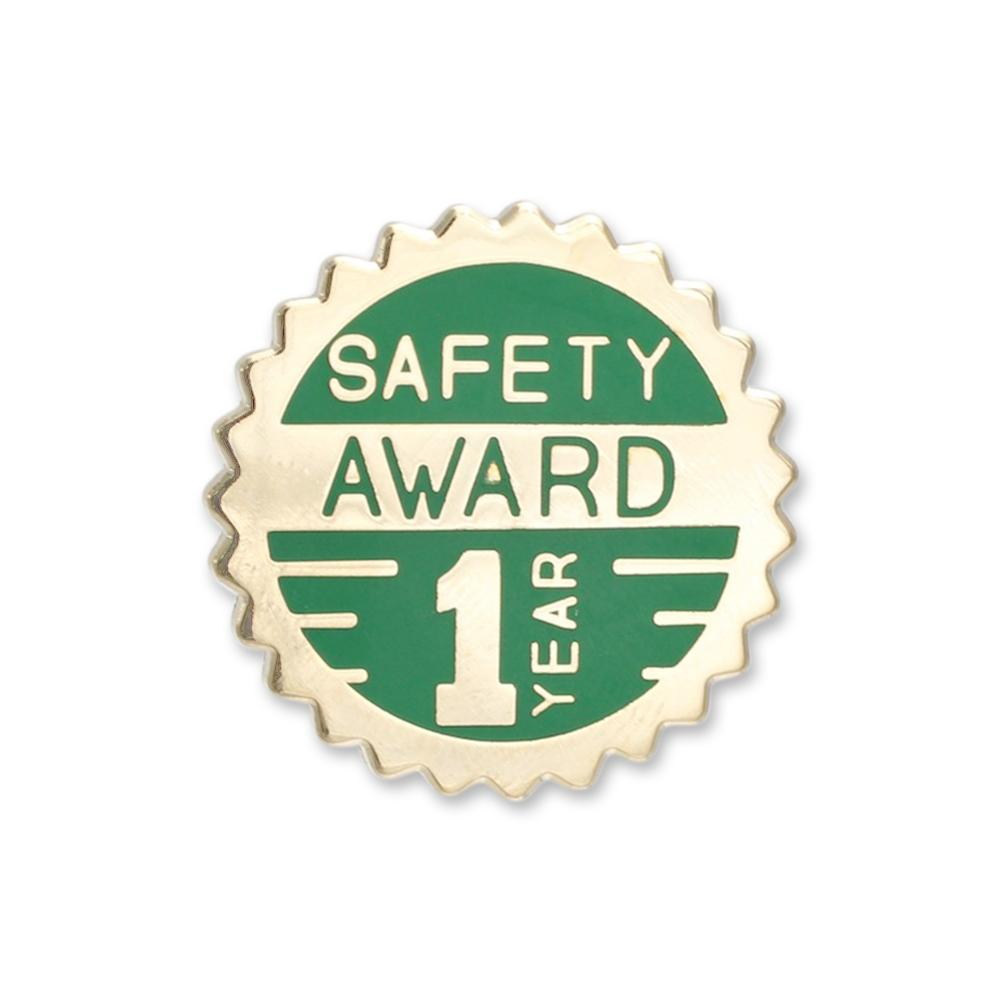1 Year of Safety Award Die Struck Lapel Pin