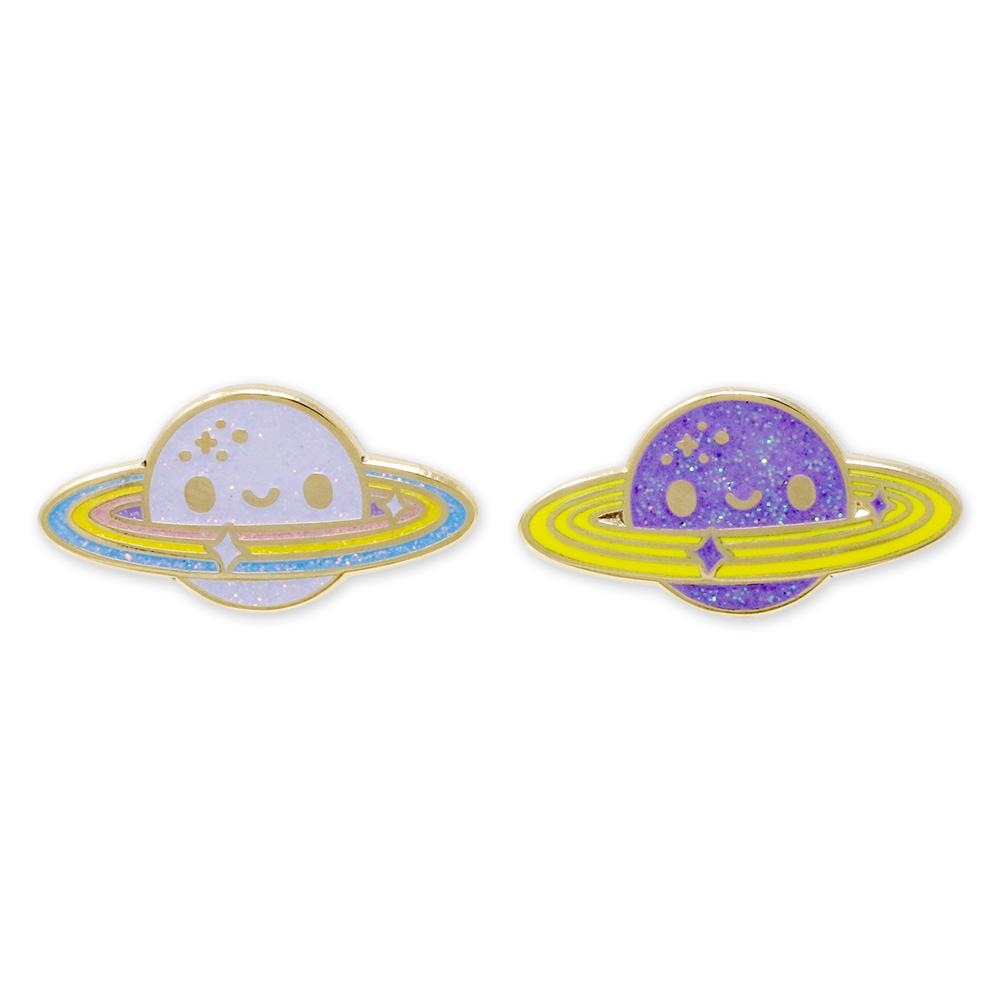 Happy Planet Saturn Rainbow Ring Enamel Pins