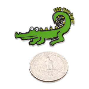 See You Later Alligator Funny Enamel Pin