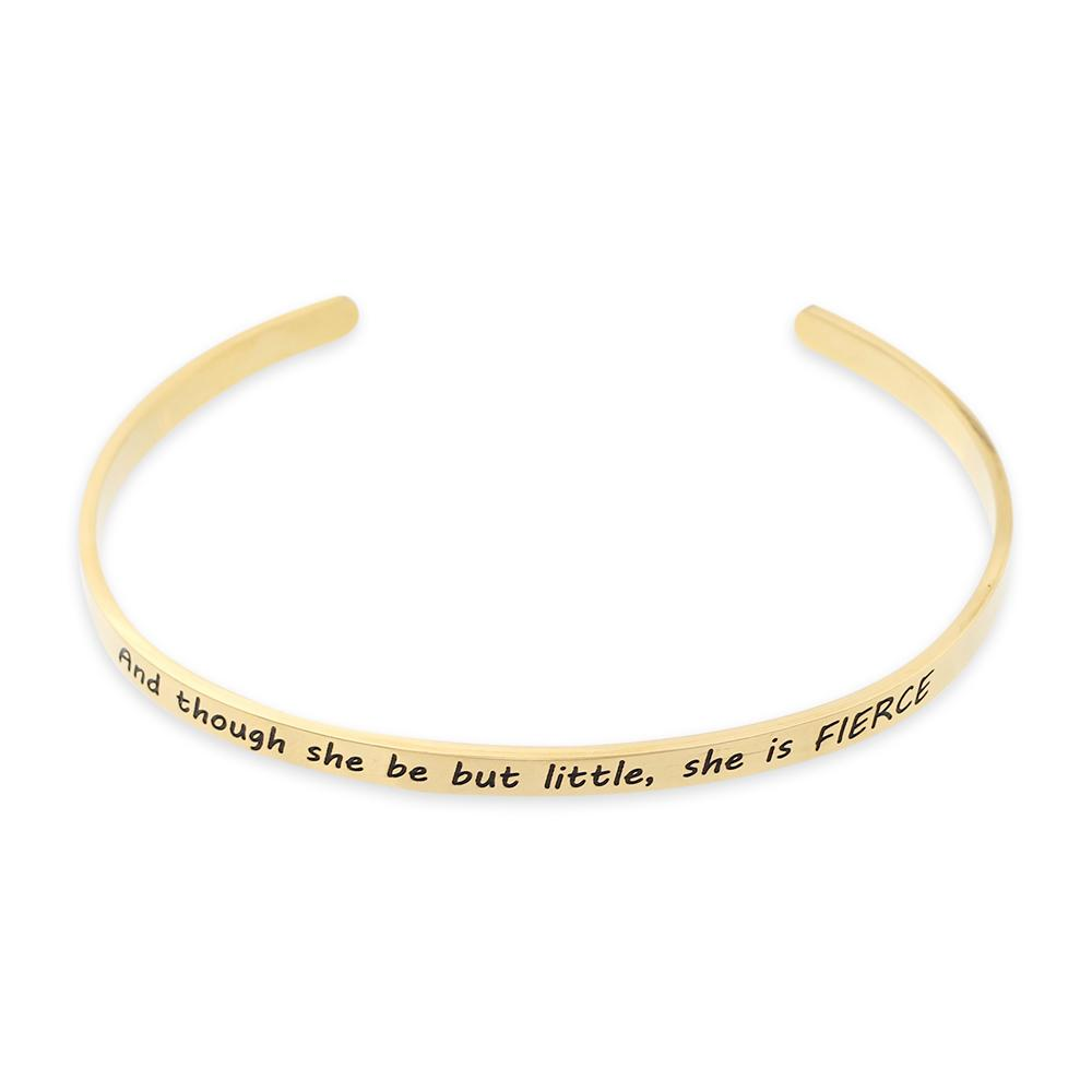 Though She Be But Little She is Fierce Shakespeare Quote Bracelet