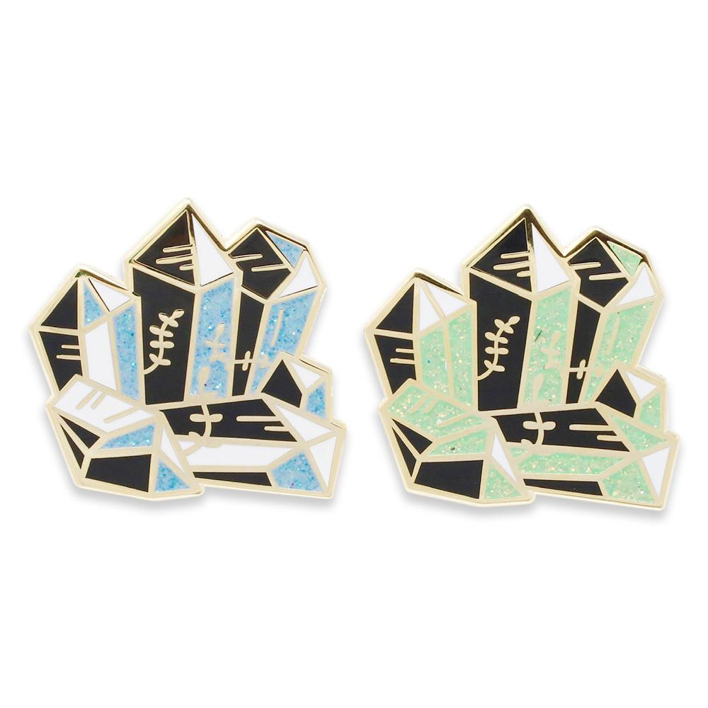 Shiny Gem Cluster Crystals Diamond Enamel Pins