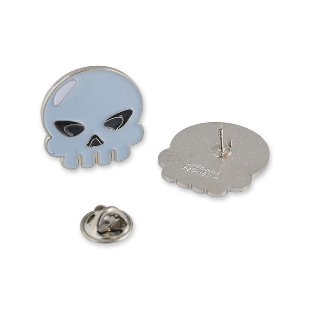 Skull Bone Face Emoji Enamel Lapel Pin