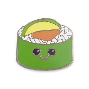 Smiling Sushi Food with Faces Hard Enamel Lapel Pin