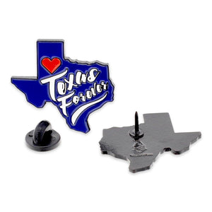 Texas Forever Friday Night Lights State Shape Enamel Pin