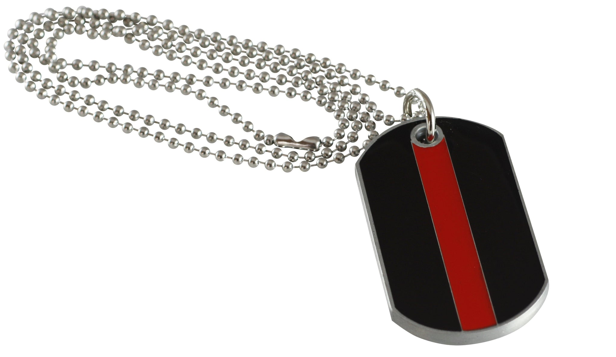 Firefighter Lives Matter Thin Red Line x Firefighter's Prayer Dog Tag