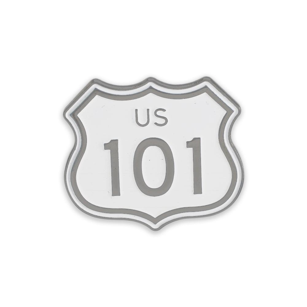 US Route 101 Highway Sign California Hollywood Freeway Enamel Lapel Pin
