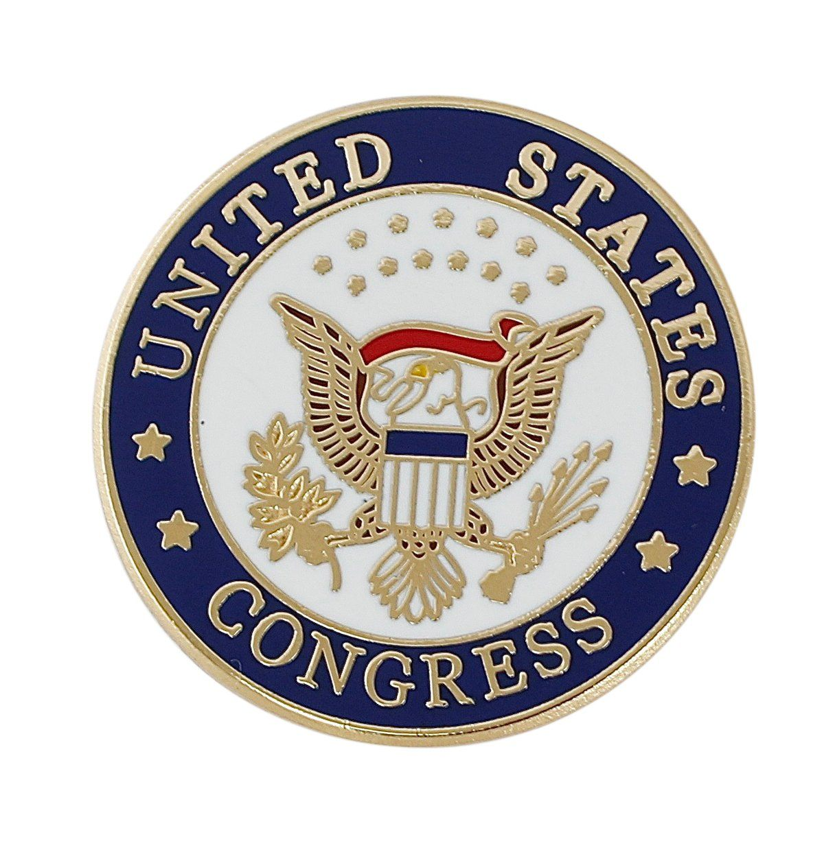 Official United States Congress Seal Lapel Pin