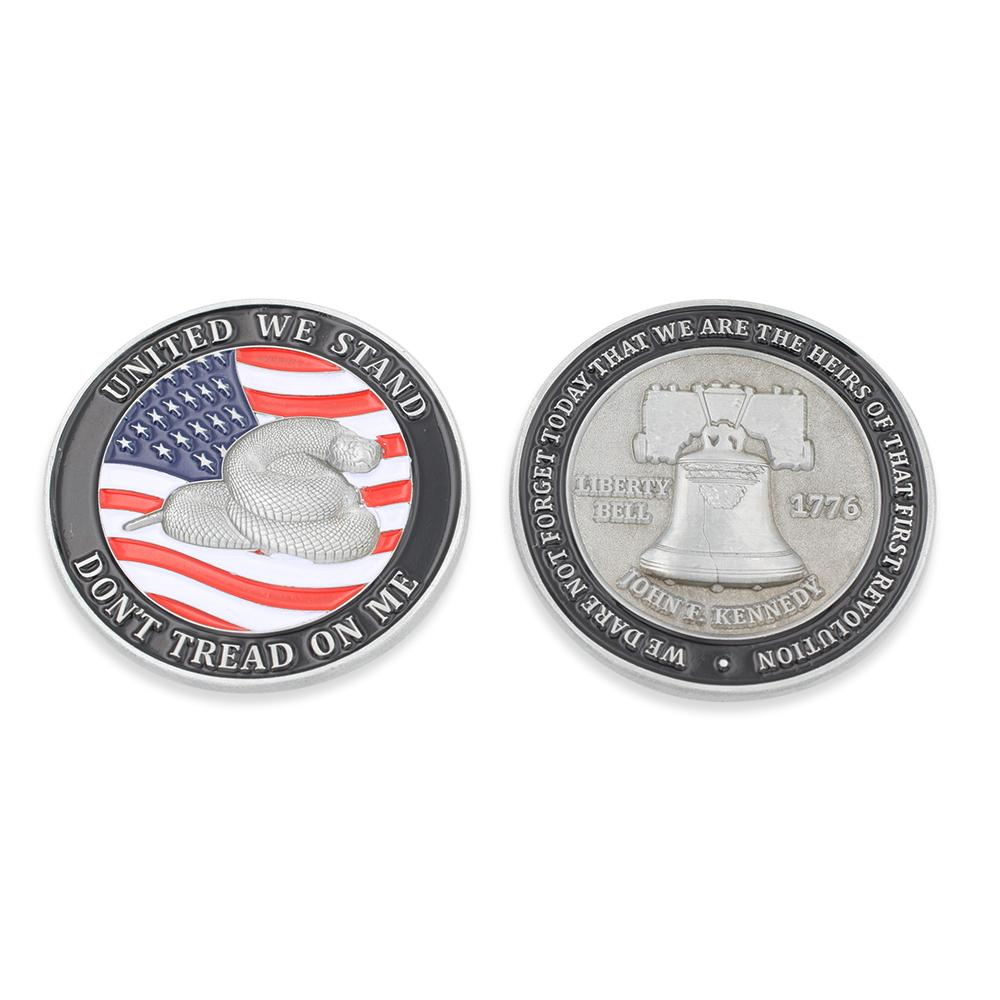 Don't Tread On Me American Flag Challenge Coin