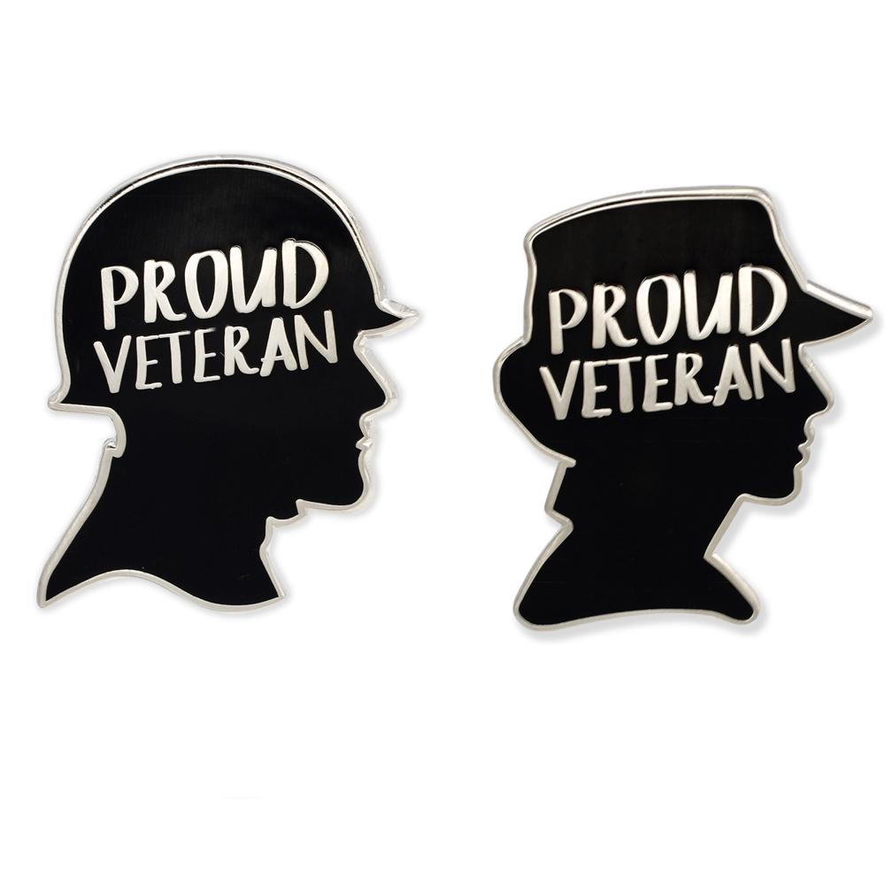 Proud Veteran Hard Enamel Lapel Pin
