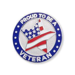 Proud to Be A Veteran Star Hard Enamel Lapel Pin