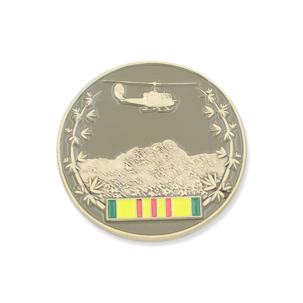 Vietnam War Veteran Armed Forces Memorial Challenge Coin
