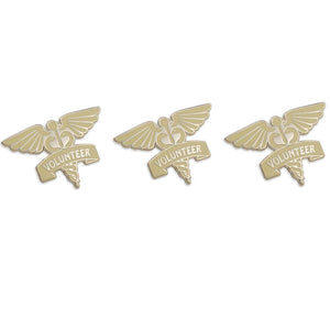 Volunteer Caduceus Diestruck Lapel Pin