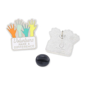 Volunteers Make a Difference Hard Enamel Lapel Pin