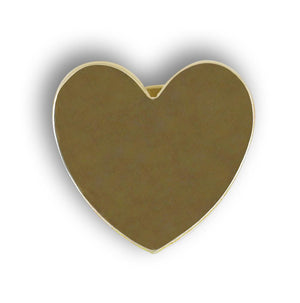 Heart Shape Gold Tone Pin