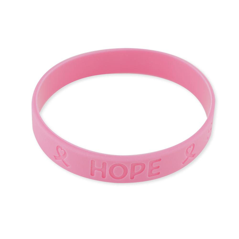 Official Breast Cancer Awareness Silicone Bracelets